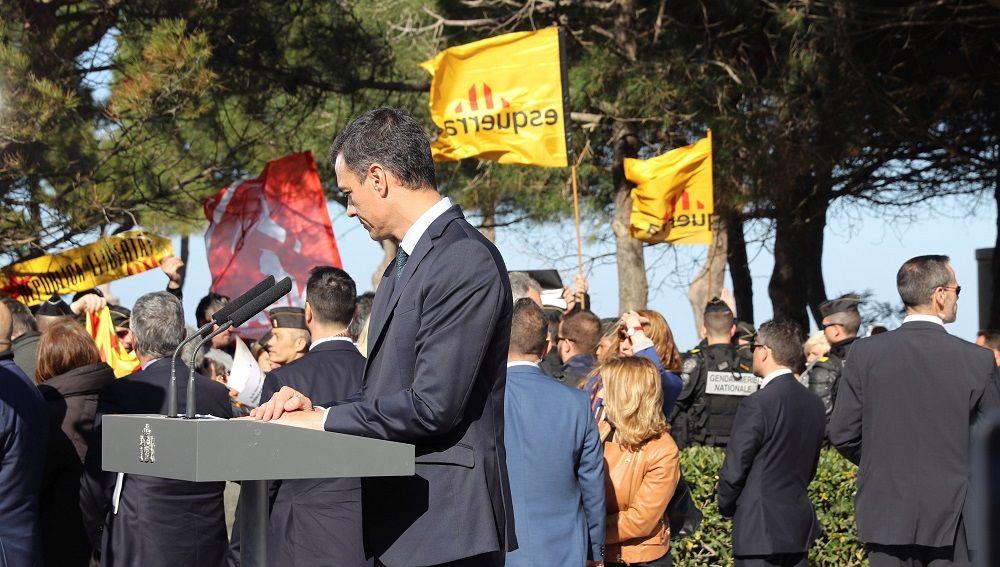 Pedro Sánchez en Argèles-sur-Mer